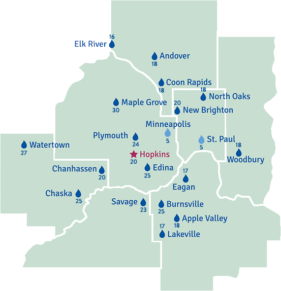 peterson salt service area map twin cities metro