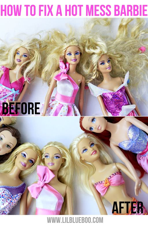 barbie hair before and after soft water
