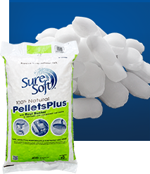 Peterson Salt Product: Water Softener Salt - Sure Soft Pellet Plus with Rust Buster